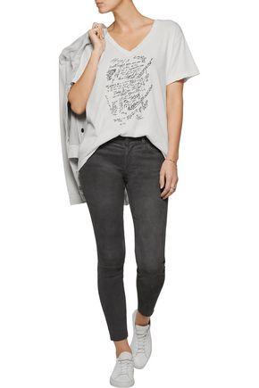 CURRENT/ELLIOTT The Stiletto suede skinny pants