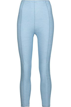 LISA MARIE FERNANDEZ Karlie embroidered stretch cotton-blend leggings