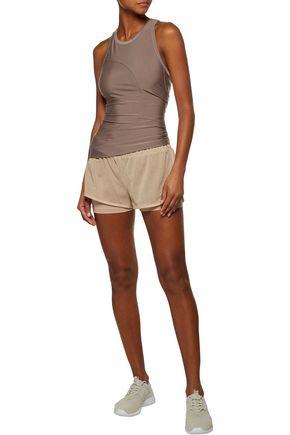 ADIDAS by STELLA McCARTNEY Layered mesh shorts