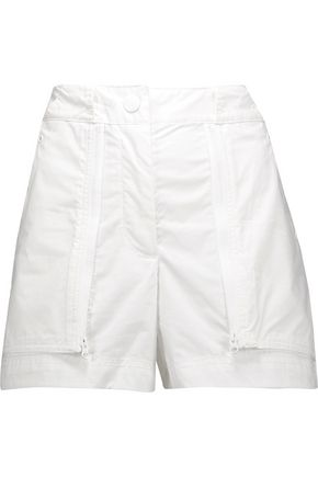 ADIDAS by STELLA McCARTNEY Zip-detailed cotton-canvas shorts