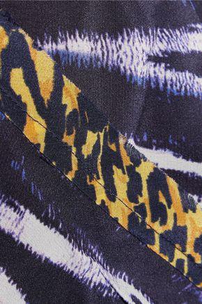 VIX Lena halterneck printed silk jumpsuit