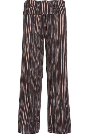 VIX PAULAHERMANNY Lanai Lotus striped voile wide-leg pants