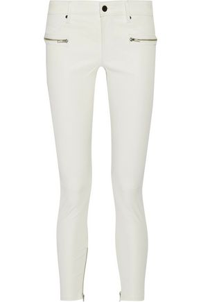 RTA Hip Zip leather skinny pants
