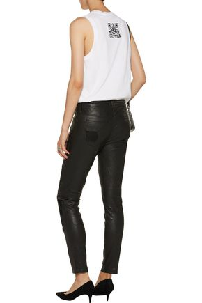 RTA Dorian distressed leather skinny pants