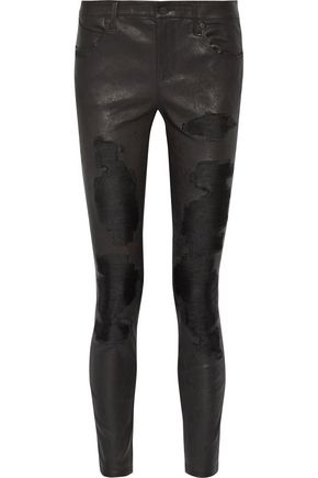 RTA Dorian distressed leather skinny pants
