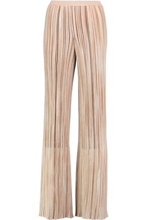 MISSONI Ribbed wool-blend wide-leg pants