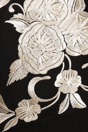 CATHERINE DEANE Inka metallic embroidered satin jumpsuit