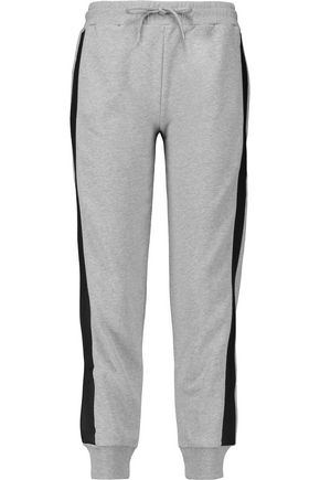 McQ Alexander McQueen Paneled cotton-jersey track pants