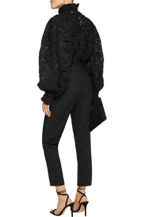 ZIMMERMANN Mishchief cropped crepe tapered pants