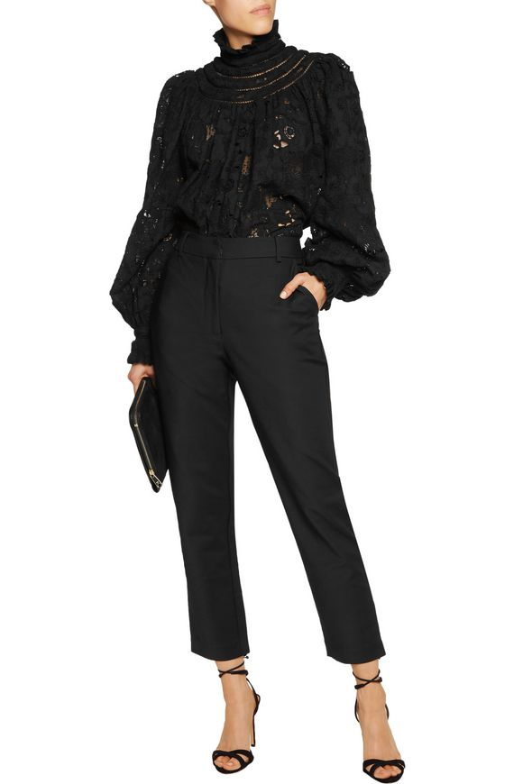 Mishchief cropped crepe tapered pants | ZIMMERMANN | Sale up to 70% off |  THE OUTNET