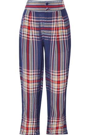 PHILOSOPHY di LORENZO SERAFINI Cropped checked twill pants