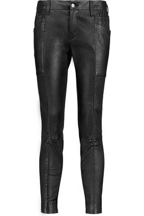 J BRAND Byrnes leather skinny pants