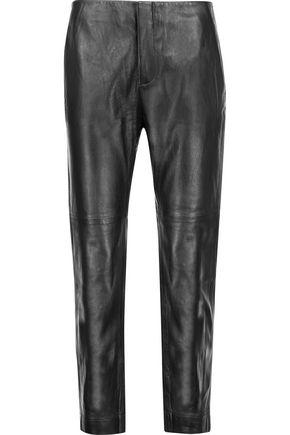 J BRAND Carla cropped leather straight-leg pants