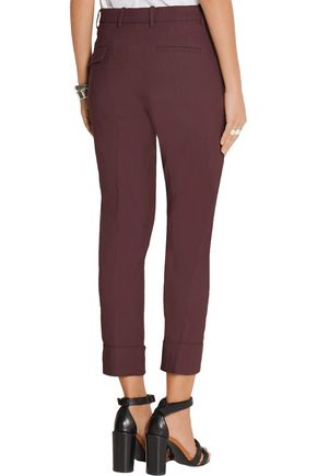 MARNI Cropped stretch linen-blend pants
