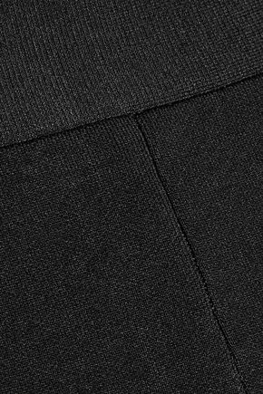 ROLAND MOURET Redan cropped ponte straight-leg pants