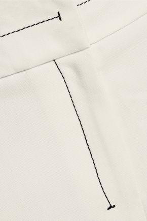 BY MALENE BIRGER Racikka embroidered crepe slim-leg pants