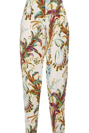PHILOSOPHY di LORENZO SERAFINI Printed crepe straight-leg pants