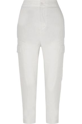 VINCE. Linen-blend twill tapered pants