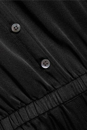 RAQUEL ALLEGRA Silk-satin jumpsuit