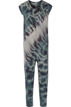 RAQUEL ALLEGRA Tie-dyed merino wool and cashmere-blend jumpsuit