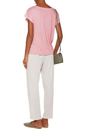 RAQUEL ALLEGRA Easy cotton-blend jersey track pants