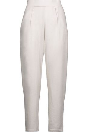 RAQUEL ALLEGRA Easy cotton-blend jersey track pants