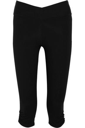 YUMMIE by HEATHER THOMSON® Candace cropped stretch cotton-blend leggings