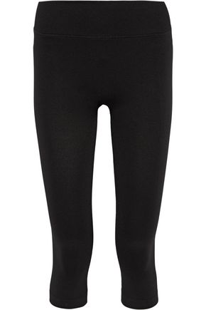 YUMMIE by HEATHER THOMSON Gabby cropped stretch-knit leggings