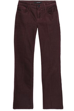 J BRAND Cropped cotton-blend corduroy flared pants