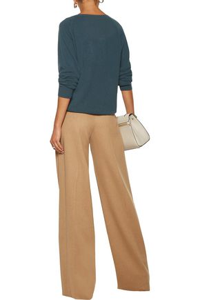 ... MAX MARA Pleated felt wide-leg pants