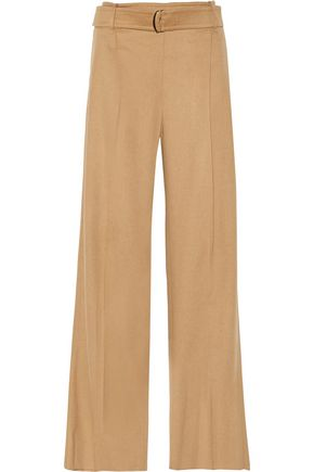 MAX MARA Pleated felt wide-leg pants