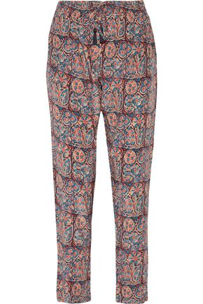 FIGUE Kerala printed silk-voile pants