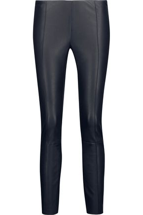 DROMe Cropped stretch-leather leggings
