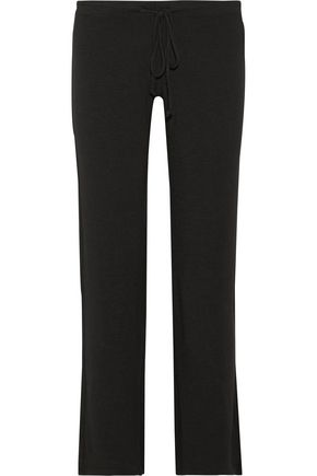 MONROW Slub stretch-terry track pants