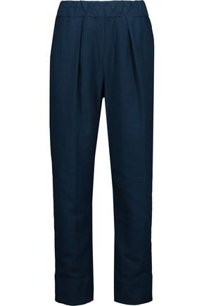 RAQUEL ALLEGRA Easy pleated cotton-twill pants