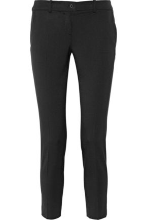 MICHAEL KORS COLLECTION Samantha stretch-wool flannel skinny pants