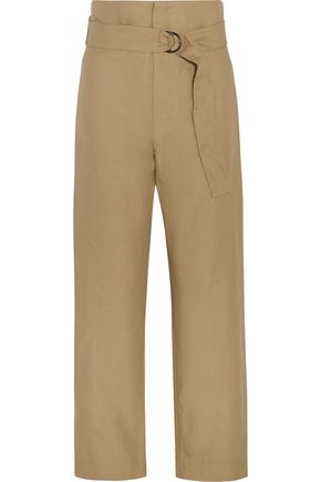 ISABEL MARANT Owel cotton and linen-blend wide-leg pants