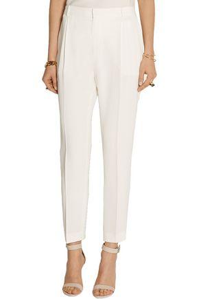 JOSEPH Tessa matte-silk straight-leg pants