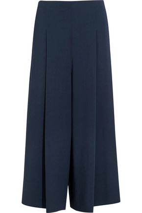 THE ROW Loja cropped stretch-cady wide-leg pants
