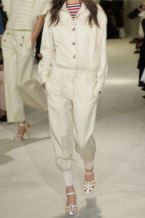 SONIA RYKIEL Linen and cotton-blend twill jumpsuit