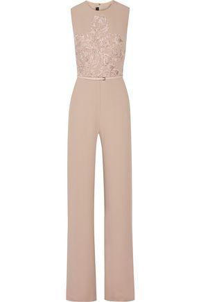 8a7c519c0dc ELIE SAAB Embellished cady jumpsuit ...
