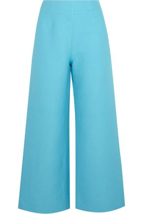 ISA ARFEN Linen and cotton-blend wide-leg pants