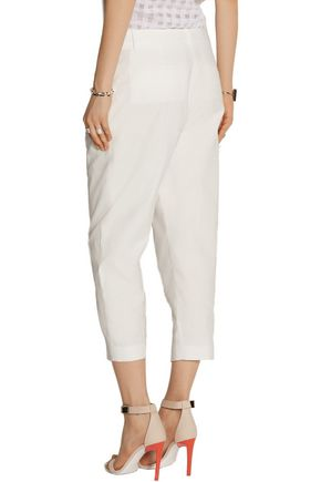 JOSEPH Saville cropped cotton-blend pants