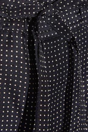 RAG & BONE Gabrielle polka-dot silk-twill wide-leg pants