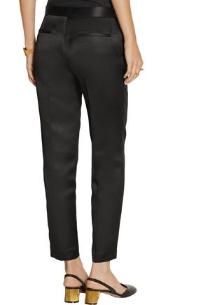THE ROW Locu silk-satin tapered pants