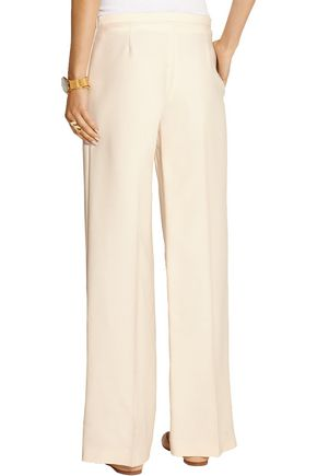 THE ROW Misa wool and silk-blend shantung wide-leg pants