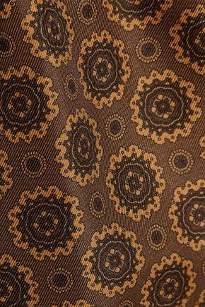 MICHAEL KORS COLLECTION Printed silk wide-leg pants