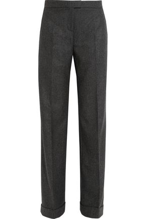 MICHAEL KORS COLLECTION Mélange wool and cashmere-blend wide-leg pants