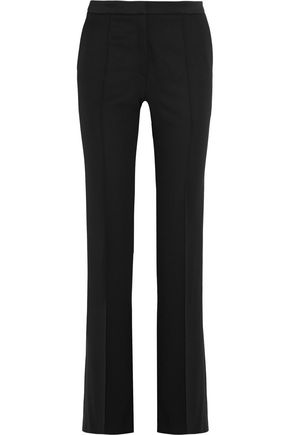 PALLAS Platon satin-trimmed wool flared pants