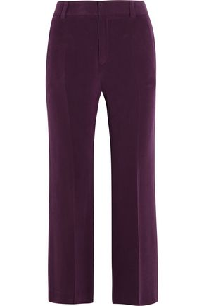 JOSEPH Lynval washed-silk wide-leg pants